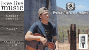 LIVE Music Friday - Cameron Byfield @ Peoria Artisan Brewery